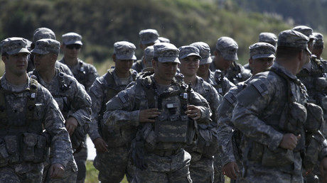 Des soldats américains prennent part à des exercices militaires près de Yavoriv, en Ukraine, le 19 septembre 2014 (illustration).