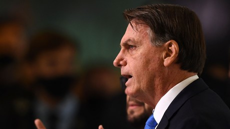 Le président Jair Bolsonaro s'exprime au palais du Planalto de Brasilia, le 31 mars 2021 (image d'illustration).