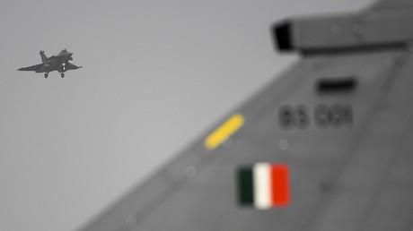 Un avion Rafale de l'Indian Air Force (IAF) se prépare à atterrir durant un exercice aérien bilatéral entre l'IAF et l'Armée de l'air française à Jodhpur, le 23 janvier 2021 (image d'illustration).