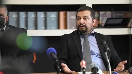 Fatih Sarikir, président de la CIMG France, au cours d'une conférence de presse à Strasbourg, le 6 avril 2021 (image d'illustration).