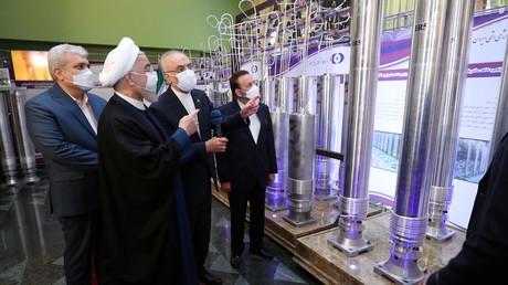 Le président iranien Hassan Rohani, le 10 avril 2021, à Téhéran.