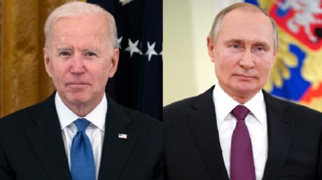Le président américain Joe Biden et le président russe Vladimir Poutine