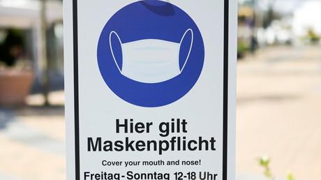 Une pancarte signalant l'obligation de port du masque (illustration).