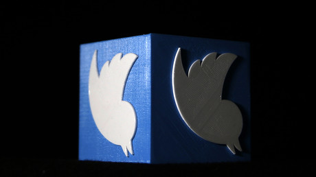 Logo Twitter imprimé en 3D (image d'illustration).
