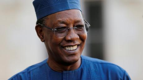 Le président tchadien Idriss Deby lors d'un sommet sur la situation dans le Sahel dans la ville de Pau, en France, le 13 janvier 2020.