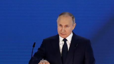 Vladimir Poutine lors du discours annuel devant le Parlement russe (image d'illustration).