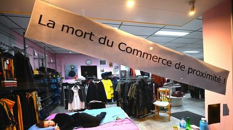 Illustration d'un commerce fermé en Alsace (image d'illustration).