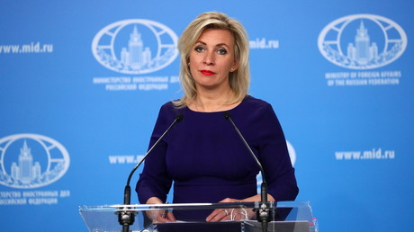 Maria Zakharova le 22 avril 2021 à Moscou (image d'illustration).