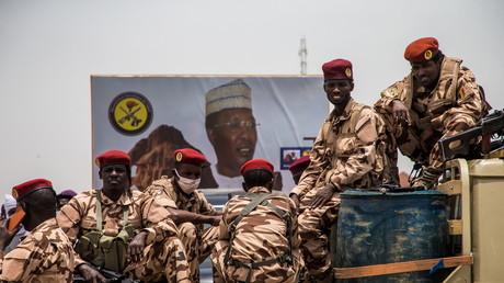 Des militaires tchadiens lors des funérailles de l'ancien chef d'Etat le 23 avril (image d'illustration)