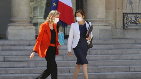 La ministre des Armées Florence Parly et la ministre de l'Industrie Agnès Pannier-Runacher à l'Élysée, le 29 juillet 2020 à Paris (image d'illustration).