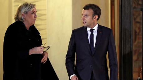 Marine Le Pen et Emmanuel Macron le 21 novembre 2017, à l'Elysée (image d'illustration).