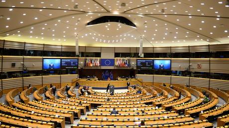 Le Parlement européen le 26 avril 2021