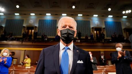 Le président américain Joe Biden au Congrès le 18 avril 2021 (image d'illustration).