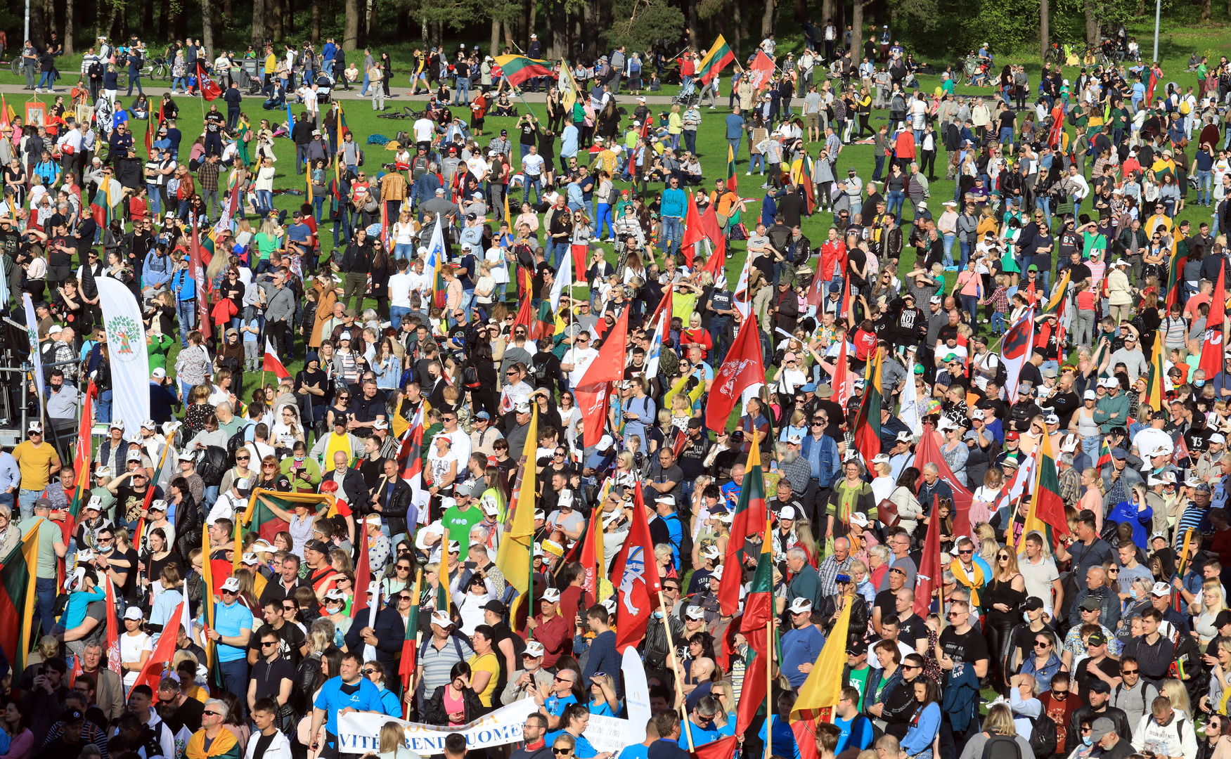 Des milliers de Lituaniens battent le pavé contre les unions civiles de même sexe