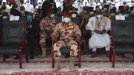 Le général Mahamat Idriss Déby aux funérailles d'État de feu le président tchadien Idriss Déby à N'Djamena le 23 avril 2021 (image d'illustration).