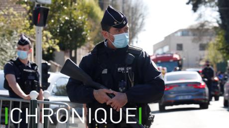 Un membre des forces de l'ordre, près des lieux de l'attaque de Rambouillet le 23 avril 2021 (image d'illustration).