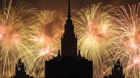 Russie : feux d'artifice pour marquer les célébrations du Jour de la Victoire