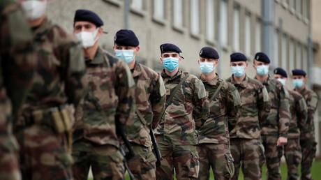 Des soldats de l'armée de terre française, à Brétigny-sur-Orge, France le 1er novembre 2020. (image d'illustration)