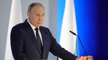 Le président russe Vladimir Poutine à Moscou, le 21 avril 2021 (image d'illustration).
