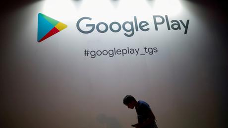Le logo du magasin d'application Google Play, à Chiba, au Japon, le 12 septembre 2019 (image d'illustration)