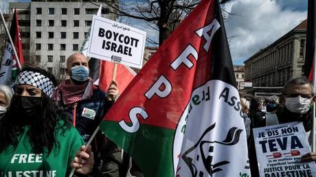 Une manifestation pro-palestinienne à Lyon le 16 mars 2021 (image d'illustration).