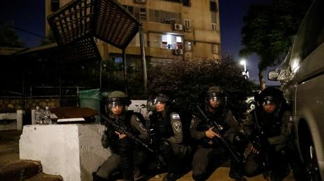 Membres de la police aux frontières israéliens lors d'une alerte le 13 mai 2021 (image d'illustration).