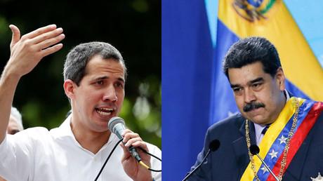 Montage : Juan Guaido (gauche) et Nicolas Maduro.
