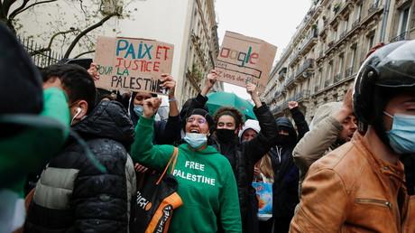 Une manifestation de soutien aux Palestiniens à Paris, le 15 mai 2021 (image d'illustration).