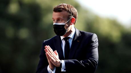 Emmanuel Macron en déplacement au Portugal le 8 mai 2021 (image d'illustration).