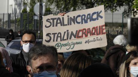 Rassemblement pour la réouverture du jardin Eole, fermé au public pour servir de lieu aux accros du crack et les éloigner des espaces publics près de la place Stalingrad, le 19 mai 2021 (image d'illustration).