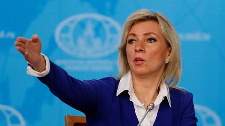 La porte-parole russe du ministère des Affaires étrangères Maria Zakharova lors d'une conférence de presse le 17 janvier 2020 à Moscou.