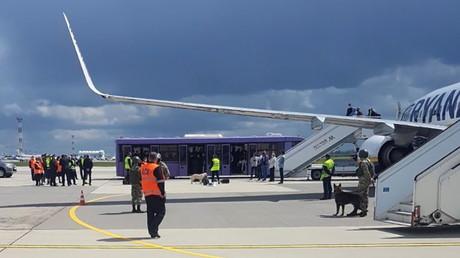 Atterrissage d'urgence d'un avion de Ryanair à Minsk le 23 mai.