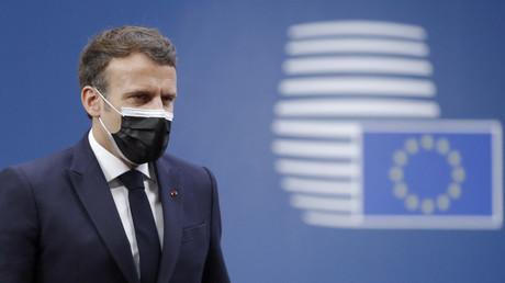 Emmanuel Macron lors du sommet de l'Union Européenne le 25 mai 2021 (image d'illustration).