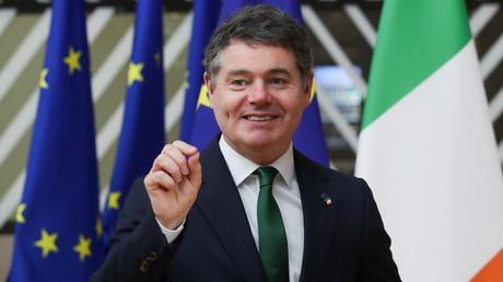 Le ministre irlandais des Finances et président de l'Eurogroupe Paschal Donohoe au siège du Conseil de l'UE à Bruxelles, en Belgique, le 22 février 2021 (image d'illustration).