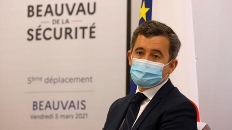 Gérald Darmanin en déplacement à Beauvais dans le cadre des travaux pour le Beauvau de la sécurité, 5 mars 2021 (image d'illustration).