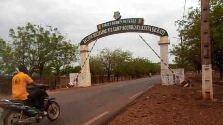 L'entrée de la base de l'armée malienne de Kati où sont retenus Bah Ndaw et Moctar Ouane (image d'illustration).