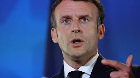 Le président français Emmanuel Macron au Conseil européen à Bruxelles, en Belgique, le 25 mai 2021.