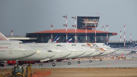 Une vue de l'aéroport Sheremetyevo de Moscou le 9 avril 2020 (image d'illustration).