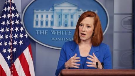 Jen Psaki lors d'une intervention dans la salle de presse de la Maison Blanche (image d'illustration).