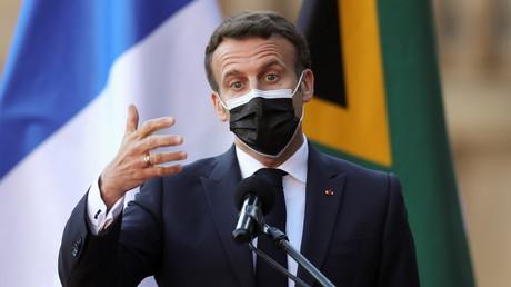 Le président français Emmanuel Macron à Pretoria, en Afrique du Sud, le 28 mai 2021 (image d'illustration).