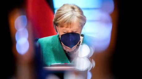 La chancelière allemande Angela Merkel à Berlin, en Allemagne, le 26 mai 2021 (image d'illustration).