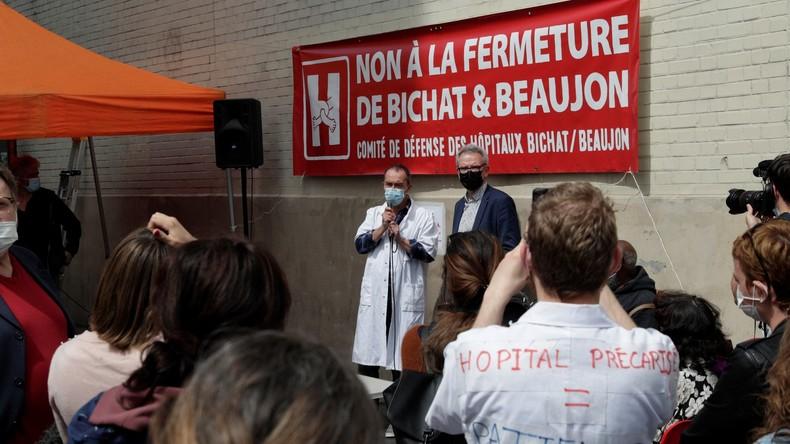 A Paris, les soignants des hôpitaux Beaujon et Bichat s'insurgent contre les projets de fermeture