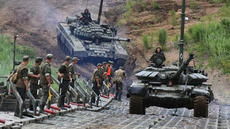 Un tank T-72 lors d'un exercice militaire en Russie (illustration).