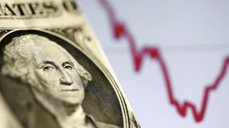 Illustration d'un dollar à côté d'un indice boursier le 7 novembre 2016 (image d'illustration).