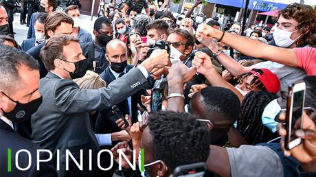 Emmanuel Macron lors d'une visite à Valence le 8 juin (illustration).