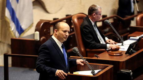 Naftali Bennett, nouveau Premier ministre israélien, s'exprime devant la Knesset le 13 juin 2021