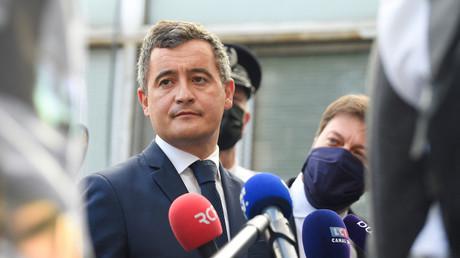 Gérald Darmanin en visite dans un commissariat marseillais, 24 mai 2021 (image d'illustration).