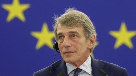 David Sassoli, lors de la session plénière du Parlement européen à Strasbourg le 9 juin 2021 (image d'illustration).