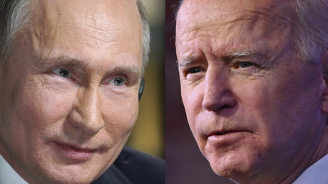 Une combinaison d'images créée le 7 juin 2021 montre le président russe Vladimir Poutine et son homologue américain Joe Biden.