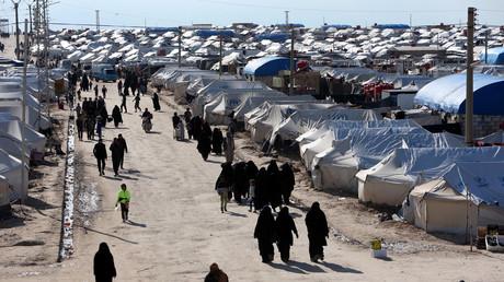 Le camp d'Al-Hol, en Syrie, où sont détenus des enfants et des femmes de combattants de l'Etat islamique, le 1er avril 2019 (image d'illustration)